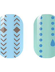 Brown/Blue Hollow Nail Stickers