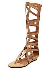 Women's Summer Wedges / Open Toe Denim Outdoor / Casual Wedge Heel Black / Gold
