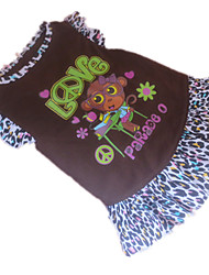 Dog Dress Brown Dog Clothes Summer Animal Leopard