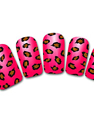 Снежинка / леопард / шнурок коричневый / черный абстрактных наклейки 3d ногтей