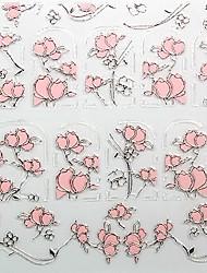fleur soulagement chaud ongles rose bijoux