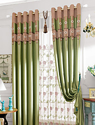 Luxury Blackout Curtains Embossed Chenille Fabric Bedroom Finished Curtain no valance