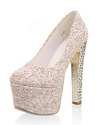Women's Shoes Glitter Chunky Heel Heels / Platform / Round Toe Heels Party & Evening / Dress / Casual