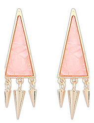 Fashion Punk Style Retro Geometric Triangle Earrings Vintage Women Jewelry