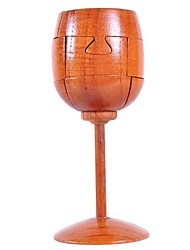 verre de vin à la main cadeau bois artware jouets pour les enfants d'âge préscolaire éducatif modèle de jouet en bois 3D Puzzle