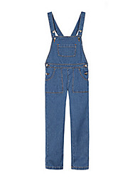 Girl's Blue Jeans Cotton Spring