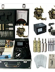Basekey Tattoo Kit 2 Machines JHK0132 Machine With Power Supply Grips Cleaning Brush Ink Needles