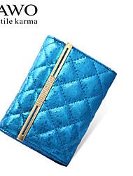 NAWO Women Cowhide Wallet Blue / Fuchsia-N354101