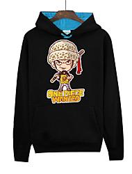 Inspiriert von One Piece Monkey D. Luffy Anime Cosplay Kostüme Cosplay Hoodies Druck Schwarz Lange Ärmel Top