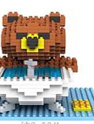 Loz Brown Bears Bathroom Loz Diamond Blocks Block Toys DIY Toys (350 Pcs)