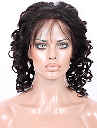 Afordable Glueless or Full Lace Front Wigs Classic Big Spiral Curly  8A Indian Virgin Remy Human Hair Wigs for Women