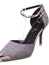 Chaussures Femme-Mariage / Soirée & Evénement-Noir / Rouge / Gris-Talon Aiguille-Talons / Bride de Cheville-Talons-Laine synthétique