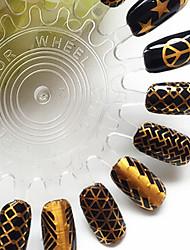 полые лазерной наклейки ПВХ абстрактные украшения ногтей