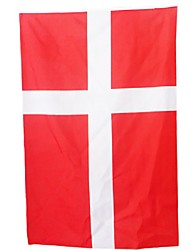 New 3Ft X 5Ft Hanging Flag Polyester Denmark National Flag Banner Home Decor