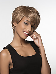 Best Excellent Short Straight Hair Woman's Remy Human Hair Hand Tied -Top Wig