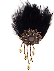 Summer jewelry feather brooch for women