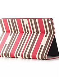 cas folio motif rayé coloré couverture en cuir PU smart cas stand pour ipad air 2 ipad fente 6 de la carte