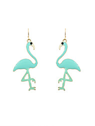 Drop Earrings Acrylic Enamel Alloy Green Jewelry Wedding Party Daily Casual Sports 1 pair