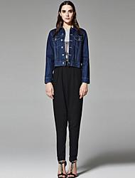 ZigZag® Da donna Colletto Maniche lunghe Blazer & Suits Blu / Grigio scuro - 11160