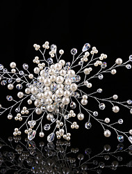 Women's / Flower Girl's Pearl / Rhinestone Headpiece-Wedding / Special Occasion Hair Combs 1 Piece
