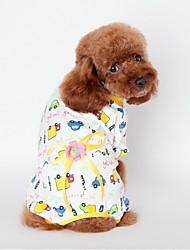 Hunde T-shirt Gelb / Blau / Rosa Hundekleidung Frühling/Herbst Blumen / Pflanzen / Schleife Urlaub