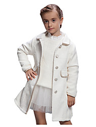 Girl's White Jacket & Coat Cotton Winter