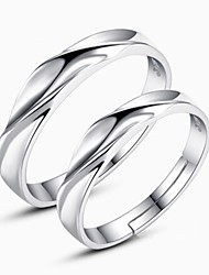 2pcs Sterling Silver Ring Weave Couple Rings Adjustable Fashion Jewelry for Couple Wedding Engagement Ring