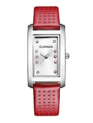 GUANQIN® High-end Luxury Fashion Quartz Watch Genuine Leather Waterproof Sapphire Crystal Square Women Wristwatch Cool Watcheses With Watch Box
