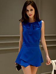 dabuwawa Frauen feste blaue Shorts Hosen, Arbeit