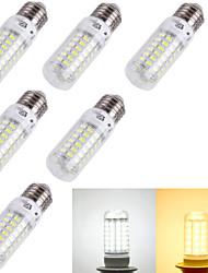 4W E14 / E26/E27 LED лампы типа Корн T 69 SMD 5730 240 lm Тёплый белый / Холодный белый Декоративная AC 220-240 / AC 110-130 V 6 шт.
