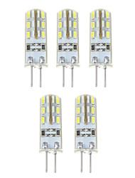1.5W G4 LED Mais-Birnen T 24*5 SMD 3014 500 lm Natürliches Weiß DC 12 V