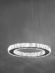 12W D30CM Modern/Contemporary Crystal / LED Chrome Metal Pendant Lights  Pendant Lamp / Dining Room /