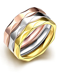 Ringe,Stahl Modisch Hochzeit / Party / Alltag / Normal Schmuck Damen / Paar Bandringe 3 Stück Goldfarben / Silber / Rotgold