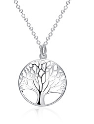 Women's Pendant Necklaces Jewelry Tree of Life Silver Plated Basic Jewelry For Wedding Party Special Occasion Anniversary Birthday