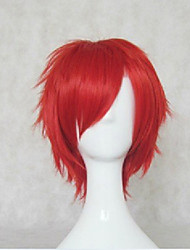 New Arrival Red Synthetic Hair Wigs Short Curly  Natural Animated Wigs Cosplay Wig Party Wigs