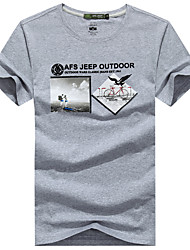 Outdoor Men's T-shirt Camping & Hiking / Climbing / Leisure Sports /Running Breathable / Sweat-wicking / Wicking Summer