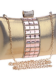 L.west Women Elegant High-grade Glass Diamonds Evening Bag