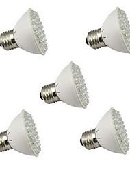 5pcs hry® E27 3W 60LED 45red + 15blue élèvent la lumière plante à fleurs de l'ampoule de la lampe promotion de jardin de système hydroponique (220v)