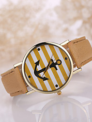 "Women's Leather Band Letter""I am already late"" Case Wrist Watch Cool Watches Unique Watches"