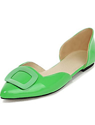 Women's Shoes Patent Leather Flat Heel Pointed Toe Flats Wedding / Dress / Casual Yellow / Green / Red