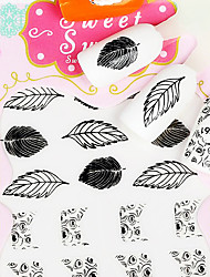 Feather Metal Black Lovely 3D Nail Sticker