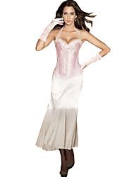 Women's Halter Print Cincher Waist Corset,Lingerie Shaperwear Pink