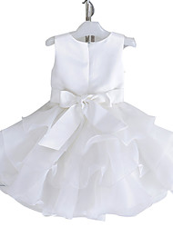 Girl's Cotton Summer Formal Dress Princess Cake Drape Sleeveless Dress