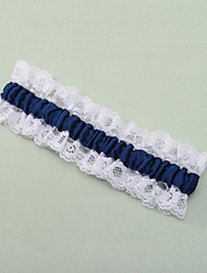 Garter Lace Polyester Lace Blue