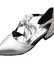 Women's Shoes PU Flat Heel Pointed Toe Flats Outdoor / Casual Black / White / Silver