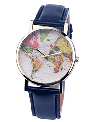 Vintage Watch Map Leather Watch Womens Watch Ladies Watch Mens Watch Unisex Watch Cool Watches Unique Watches