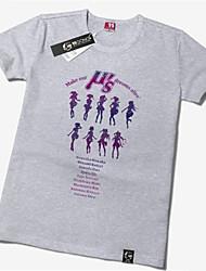 Inspiré par Aime la vie Niko Yazawa Manga Costumes de Cosplay Cosplay T-shirt Imprimé Jaune Manche Courtes Manches Ajustées Pour Unisexe