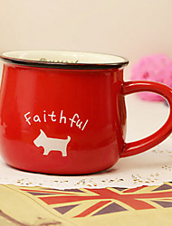 Classic Creative Red Ceramic Mug Cup