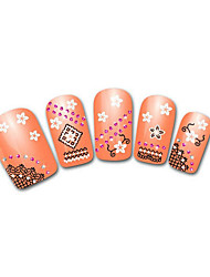 Lovely Orange Snow Leopard Lace Nail Jewelry
