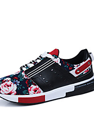 Summer Flowers Printing Rubber Sole Men'sShoesMen Fashion Superstar BrandSports ShoesCasual Chaussure Plus Size
